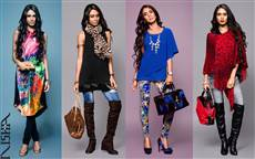 Fashion advertising  campaign for clothing stores Nisha Canada